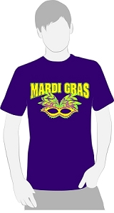 Mardi Gras T Shirt - Large