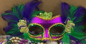 Purple / Feather Fancy Mask