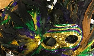 Sequin / Feather Fancy Mask